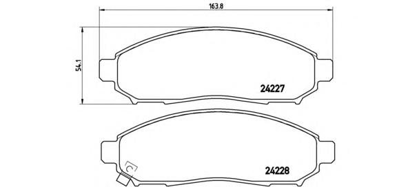 P56059 Колодки тормозные NISSAN NAVARA/PATHFINDER 2.5D 05- передние