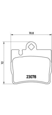 P50042 Колодки тормозные MERCEDES W220 S320-S600 9805/C215 AMG задние
