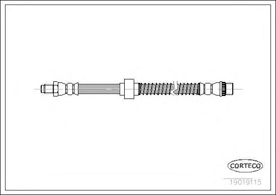19019115 Шланг тормозной CITROEN: BERLINGO 1.1 i/1.4 bivalent/1.4 i/1.4 i bivalent/1.6 16V/1.6 HDI 110/1.6 HDI 75/1.6 HDI 90/1.8