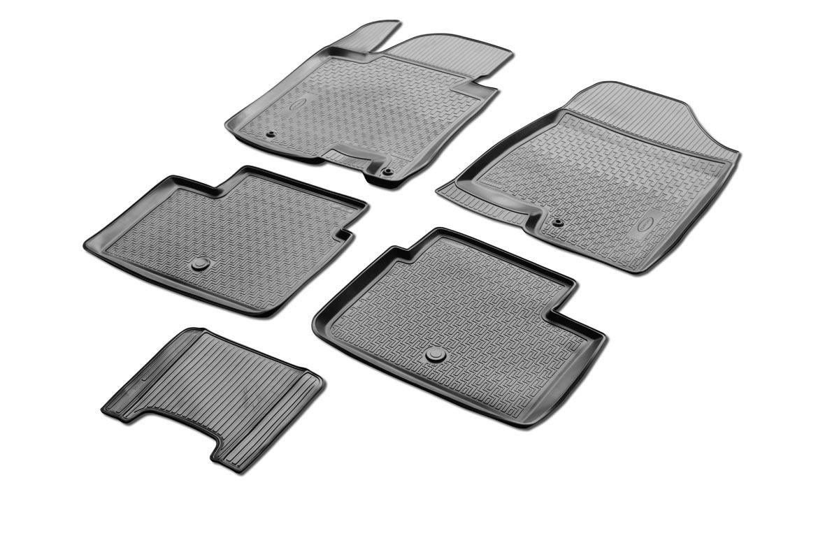 0012801001 Комплект автомобильных ковриков Kia Ceed II 2012- Hatchback 3D/5D, полиуретан, низкий борт, 5 предметов, крепеж для п