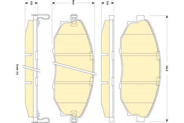 6141799 Колодки тормозные CHEVROLET EPICA 07- передние