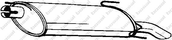 185309 Глушитель выхлопных газов конечный