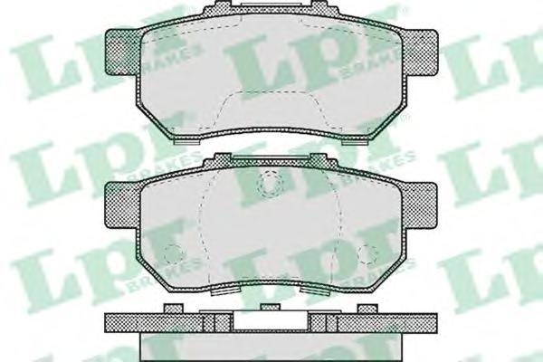 05P505 Колодки тормозные HONDA CIVIC 1.4-1.6 91-01 задние