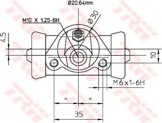 BWF150 Цилиндр торм.раб. LADA 110/111/112/NIVA/SAMARA 72-