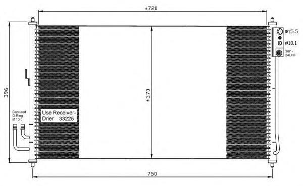 35878 Конденсер NI Murano 3,5 05-