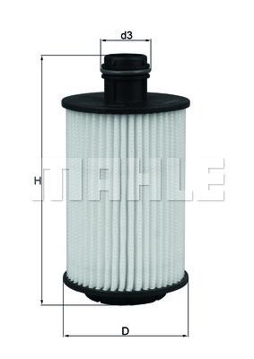 OX1012D Фильтр масляный CHEVROLET 2.0 CRDI 06-