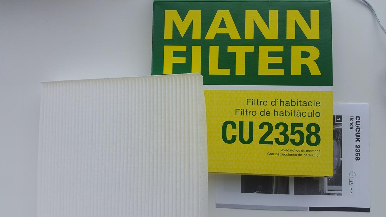 CU2358 Фильтр салона HONDA ACCORD 03-/CIVIC 06-/CR-V 07-