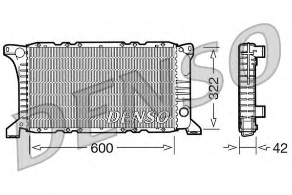 DRM10097 Радиатор системы охлаждения FORD: TRANSIT c бортовой платформой/ходовая часть (E ) 2.0 (EME/L/S, ENE/L/S)/2.5 DI (EME/L