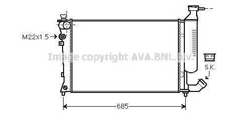 CNA2155 Радиатор CITROEN XSARA 1.4-1.8 93-05