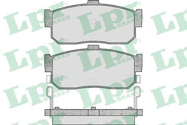 05P602 Колодки тормозные NISSAN ALMERA 95-/MAXIMA 95-/PRIMERA 90-98/SUNNY 87-95 задние