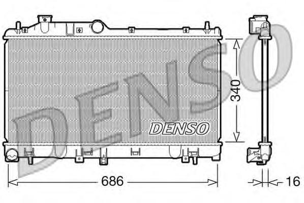 DRM36007 Радиатор охл. ДВС SUB Legacy IV 2.0 i Man. 09/03-