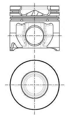 8714810710 Поршень FORD TRANSIT 2,4D 04-06 0,5mm(комплект)