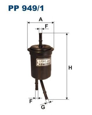 PP9491 Фильтр топливный KIA RIO 00-
