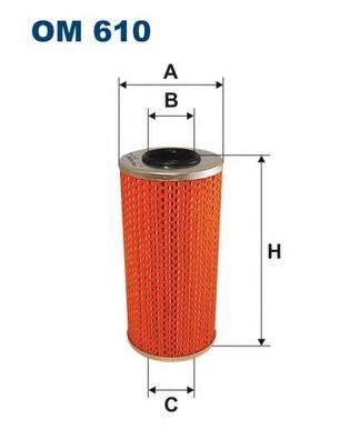 OM610 Фильтр масляный MB W202/210/124/SPRINTER (901-903) 2.2D/2.5D/3.0D