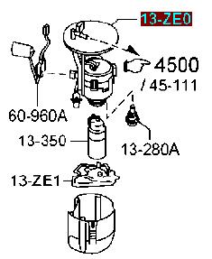 PE0113ZE0 Фильтр топливный Мазда СХ-5 2WD
