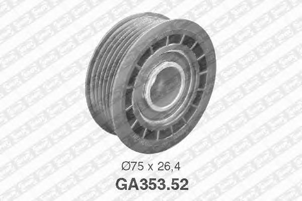 GA35352 Ролик приводного ремня Opel Astra 1.4i-1.6i 16V 91 Omega 2.6i-3.0i 87