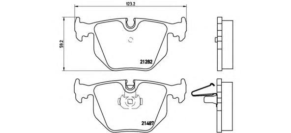 P06020 Колодки тормозные BMW X3 E83/X5 E53/3 E46 2.5/3.0/RANGE ROVER III 02- задние
