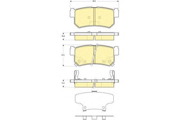 6133669 Колодки тормозные SSANGYONG REXTON 02/KYRON 05/ACTYON 05 задние