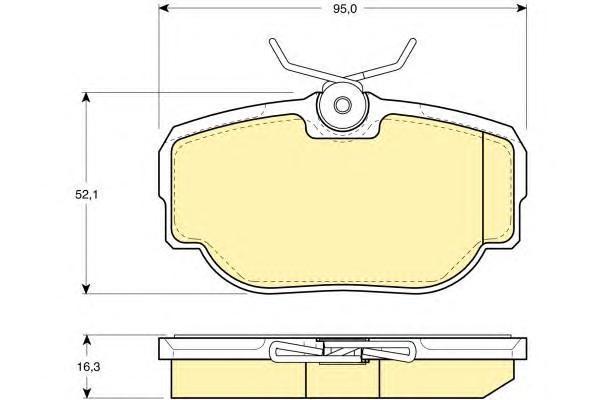 6111551 Колодки тормозные LAND ROVER DISCOVERY 98-04/RANGE ROVER 88-02 задние