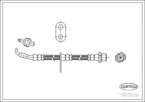 19032289 Шланг тормозной Fr 453мм TO Corolla -00
