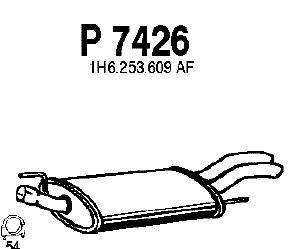 P7426 Глушитель VW GOLF 1.6-2.0/1.9TD 93-01