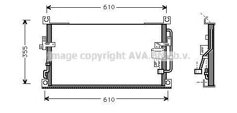 MT5107 Конденсер MITSUBISHI L200 2.5 D/TD 96-