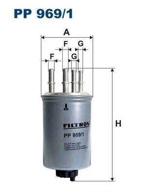 PP9691 Фильтр топливный RANGE ROVER 2.7 TD 04-