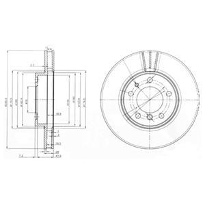 BG3037 Тормозной диск 2шт в упаковке