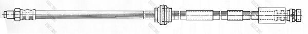 9002434 Шланг тормозной FORD MONDEO 00-07/JAGUAR X-TYPE 01- передний лев./прав.