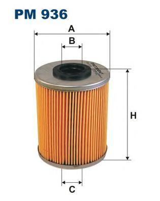 PM936 Фильтр топливный OPEL ASTRA G/H/VECTRA B/C/OMEGA B/CORSA C 1.7D-3.0D