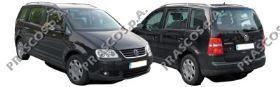 VW7151061 Бампер задний грунтованный / VW Touran 03~10