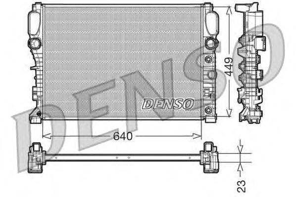 DRM17090 Радиатор системы охлаждения MERCEDES-BENZ: E-CLASS (W211) E 240 (211.061)/E 240 4-matic (211.080)/E 320 (211.065)/E 320