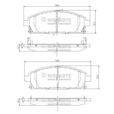 J3601071 Колодки тормозные NISSAN PATHFINDER 97-04/X-TRAIL 01-07 передние