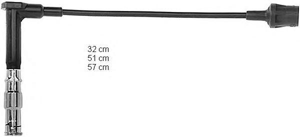ZEF641 Комплект проводов в/в MB W124 3.0,3.2/W140 3.0/W210/ 3.0,3.2W463 3.2/R