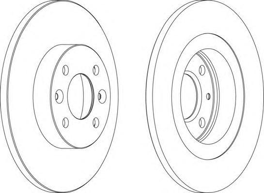 DDF1502 Диск тормозной RENAULT LOGAN/SANDERO передний не вент.D=259мм.