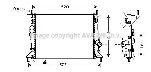 FD2368 Радиатор FORD FOCUS 1.4/1.6 04-