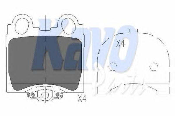 KBP9066 Колодки тормозные LEXUS GS 3.0-4.3 97-/IS 2.0-3.0 99- задние