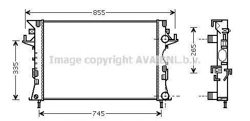 RT2290 Радиатор RENAULT LAGUNA 1.6-2.0/1.9D 01-