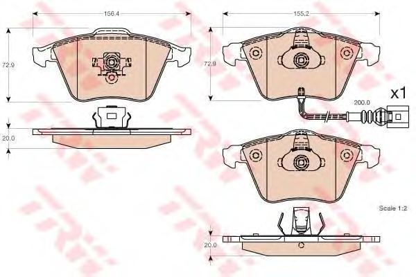 GDB1616 Колодки тормозные AUDI A3/TT/VOLKSWAGEN GOLF/PASSAT 04- передн