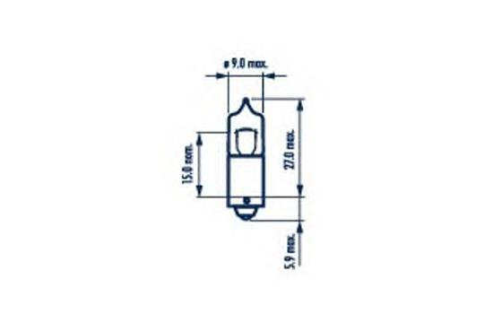 17833 Лампа H10W 12V 10W BA9s