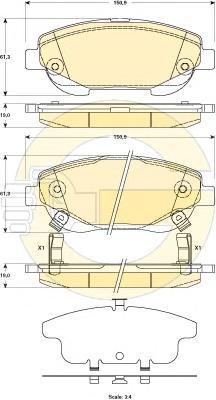 6135184 Колодки тормозные TOYOTA AVENSIS 2.2D 09- передние