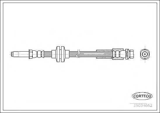 19034662 Шланг торм. Re FO Focus C-Max 03-07 390мм