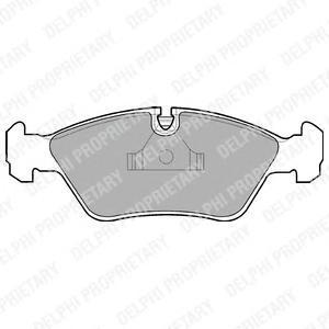 lp441 Комплект тормозных колодок, дисковый тормоз
