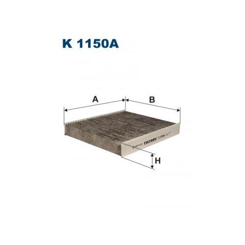 K1150A Фильтр салона FORD FOCUS C-MAX/MONDEO 07-/VOLVO C30/C70/S40/V50 04- угольный