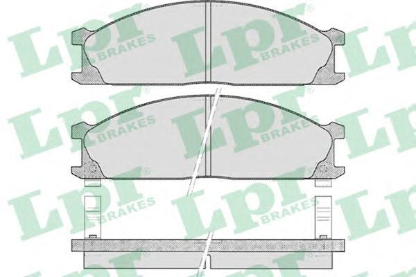 05P378 Колодки тормозные NISSAN TERRANO 87-98/PICK UP 98- передние