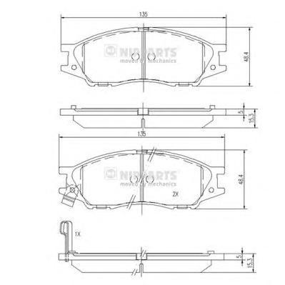 N3601097 Колодки тормозные NISSAN ALMERA CLASSIC 06- передние