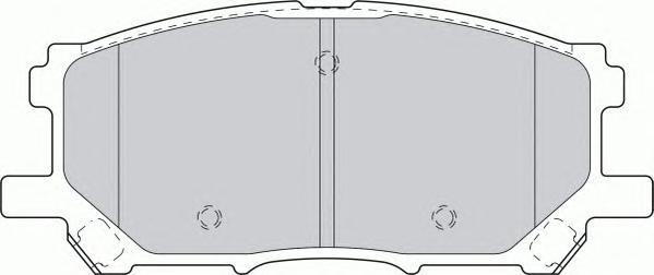 FDB1715 Колодки тормозные LEXUS RX300/RX330/RX350 0308/RX400H 0509 передние