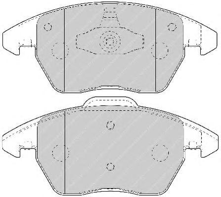 FDB1728 Колодки тормозные CITROEN C4/PEUGEOT 207/307/308 1.6-2.0 передние