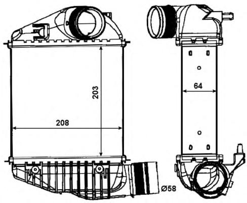 30015 Интеркулер VAG A6 2.0TDI/2.0TFSI 04-