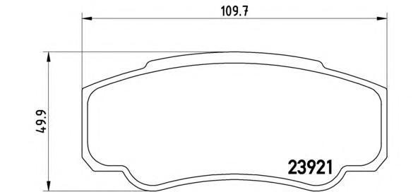 P23093 Колодки тормозные CITROEN JUMPER/FIAT DUCATO/PEUGEOT BOXER (230/244) 94- задние